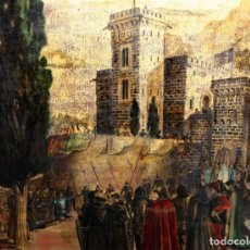 Arte: SEBASTIA Mª DE PLAJA COLL. OLEO LIENZO. LLEGADA DEL REI JAUME I AL CASTILLO DE PIERA.. Lote 195161905