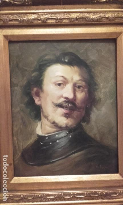 Arte: Excelente Retrato de caballero / oleo sobre tabla - Foto 2 - 171328994