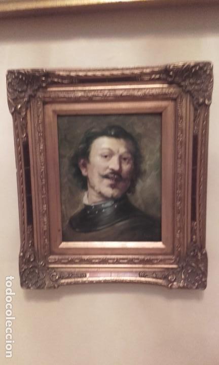 Arte: Excelente Retrato de caballero / oleo sobre tabla - Foto 3 - 171328994