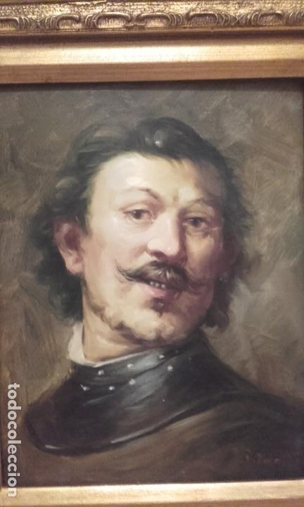 EXCELENTE RETRATO DE CABALLERO / OLEO SOBRE TABLA (Arte - Pintura - Pintura al Óleo Moderna sin fecha definida)