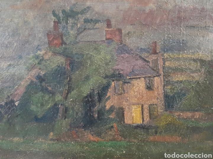 Arte: Anónimo . Casa en el valle ( Escuela Inglesa ) - Foto 2 - 171407273