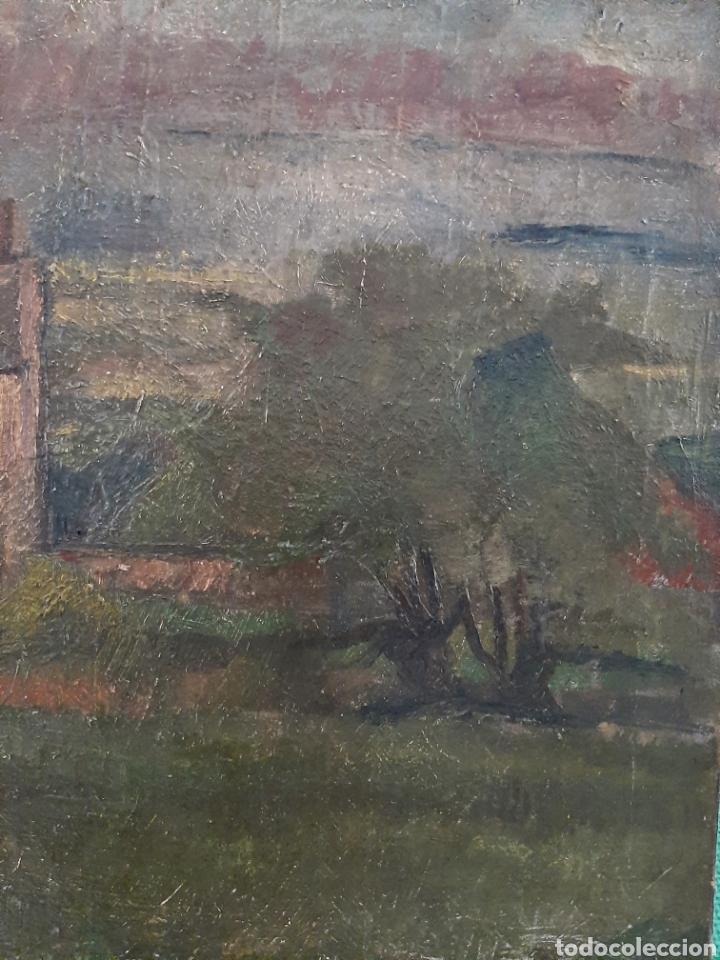 Arte: Anónimo . Casa en el valle ( Escuela Inglesa ) - Foto 3 - 171407273