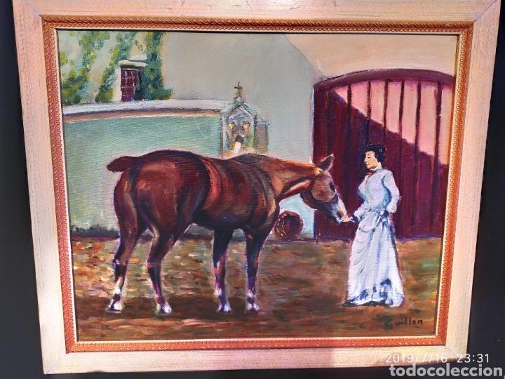 CUADRO JOSEP GUILLEN CATALA OLEO SOBRE LIENZO SOBRE TABLA VINTAGE ANTIGUO (Arte - Pintura - Pintura al Óleo Antigua sin fecha definida)