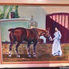 Arte: CUADRO JOSEP GUILLEN CATALA OLEO SOBRE LIENZO SOBRE TABLA VINTAGE ANTIGUO. Lote 171464899