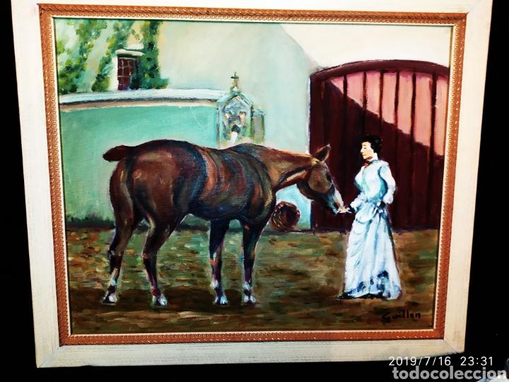 Arte: CUADRO JOSEP GUILLEN CATALA OLEO SOBRE LIENZO SOBRE TABLA VINTAGE ANTIGUO - Foto 11 - 171464899