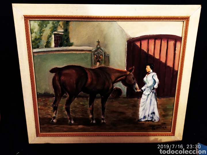 Arte: CUADRO JOSEP GUILLEN CATALA OLEO SOBRE LIENZO SOBRE TABLA VINTAGE ANTIGUO - Foto 12 - 171464899