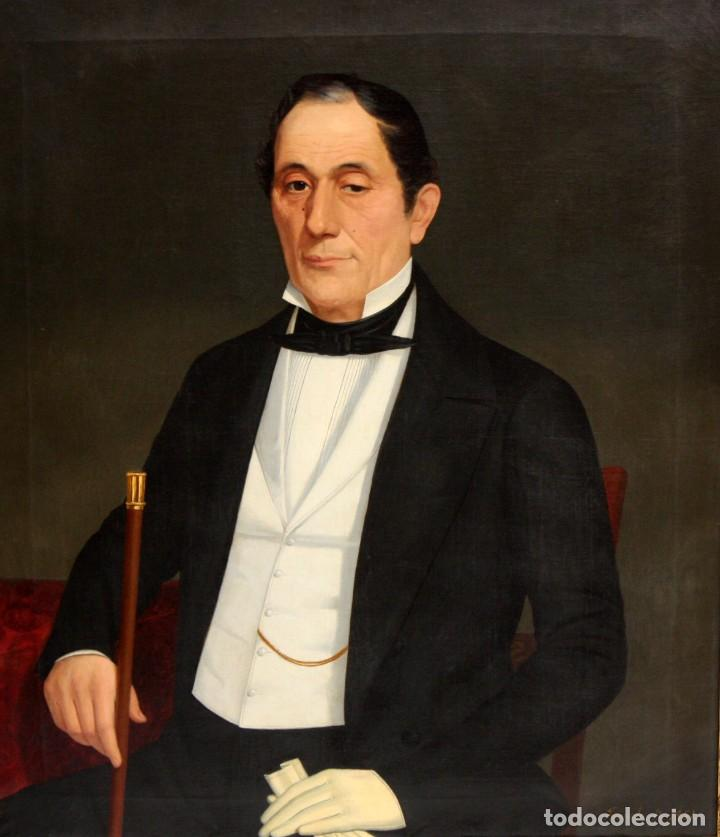 Arte: JUAN FRANCH (Barcelona, c.1825 - Madrid, 1882) PAREJA DE OLEOS SOBRE TELA. RETRATOS FAMILIARES - Foto 3 - 171477810