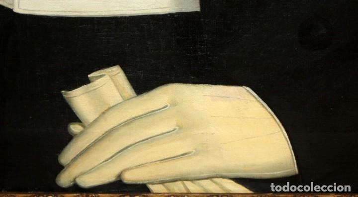 Arte: JUAN FRANCH (Barcelona, c.1825 - Madrid, 1882) PAREJA DE OLEOS SOBRE TELA. RETRATOS FAMILIARES - Foto 7 - 171477810