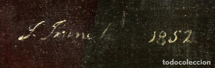 Arte: JUAN FRANCH (Barcelona, c.1825 - Madrid, 1882) PAREJA DE OLEOS SOBRE TELA. RETRATOS FAMILIARES - Foto 11 - 171477810