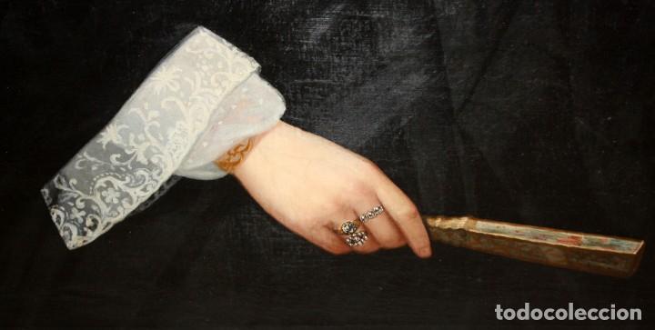 Arte: JUAN FRANCH (Barcelona, c.1825 - Madrid, 1882) PAREJA DE OLEOS SOBRE TELA. RETRATOS FAMILIARES - Foto 12 - 171477810