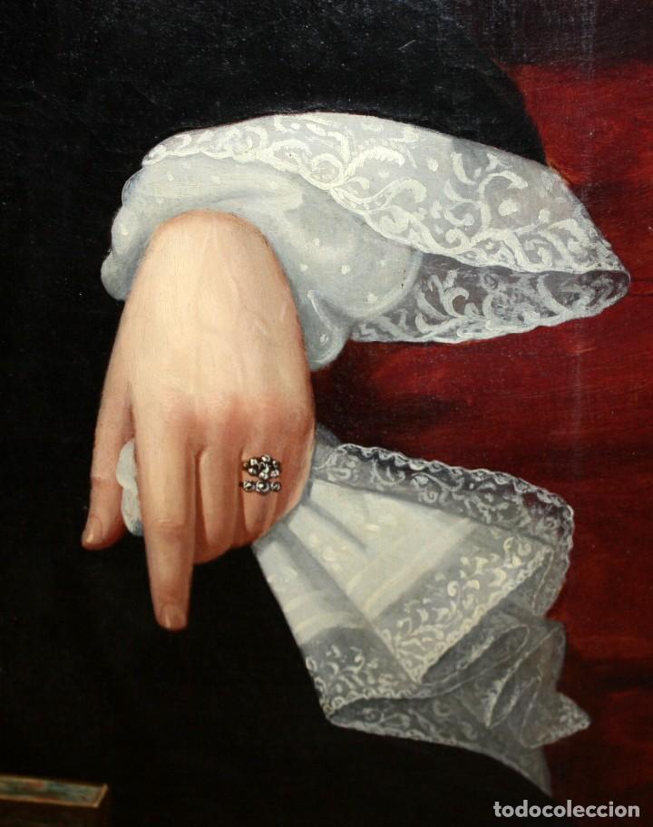 Arte: JUAN FRANCH (Barcelona, c.1825 - Madrid, 1882) PAREJA DE OLEOS SOBRE TELA. RETRATOS FAMILIARES - Foto 13 - 171477810