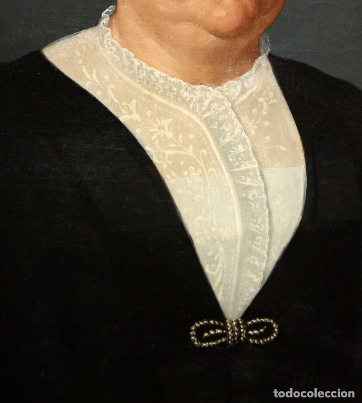 Arte: JUAN FRANCH (Barcelona, c.1825 - Madrid, 1882) PAREJA DE OLEOS SOBRE TELA. RETRATOS FAMILIARES - Foto 14 - 171477810