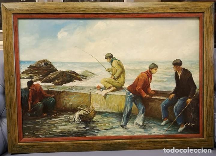 Arte: Óleo Pescadores - Foto 3 - 171478959