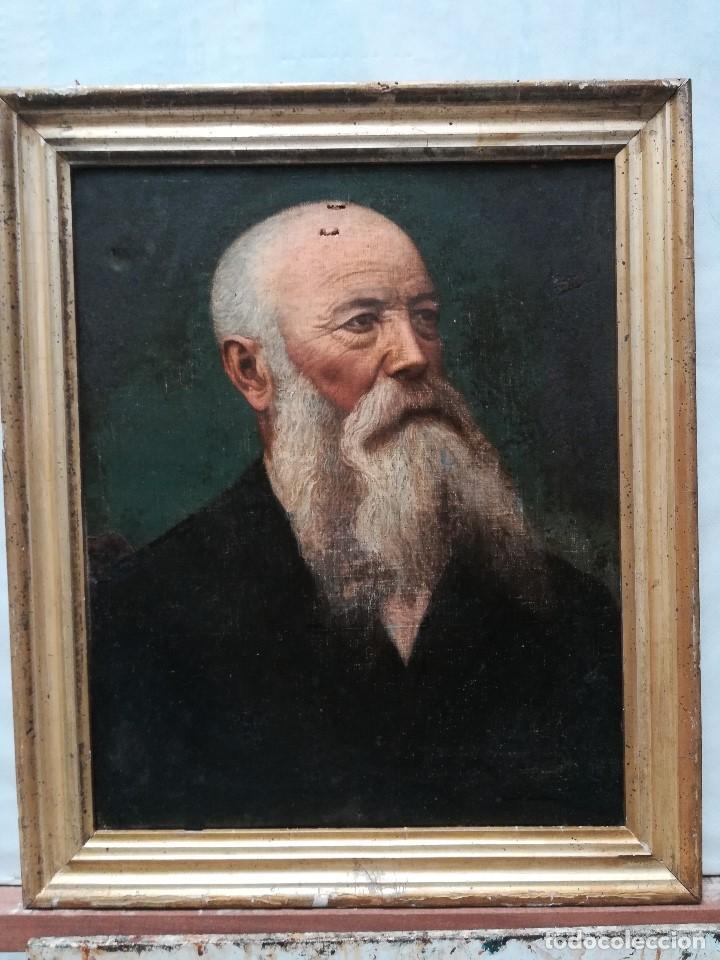 RETRATO DE SEÑOR CON BARBA (Arte - Pintura - Pintura al Óleo Moderna siglo XIX)