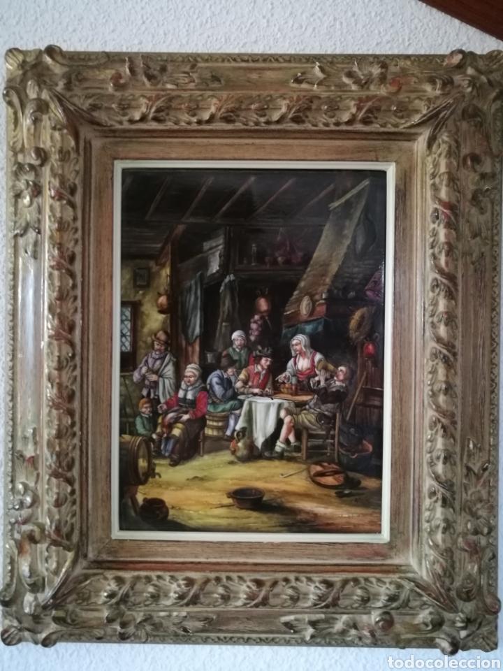 CUADRO CON MARCO DE MADERA (Arte - Pintura - Pintura al Óleo Antigua sin fecha definida)