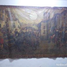 Arte: IMPRESIONANTE OLEO LOS ULTIMOS MOMENTOS DE LANUZA FIRMADO POR ANTONIO BLASCO 1898. Lote 171520047