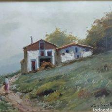 Arte: ÓLEO SOBRE TABLA FIRMADO CARBONELL ESCUELA VALENCIANA ENMARCADO DE CALIDAD COLECCION PARTICULAR. Lote 171524448