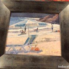Arte: ESCENA DE PLAYA EN ALICANTE, PEP CANET. Lote 171524827