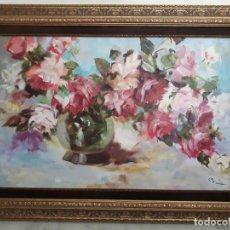 Arte: CUADRO OLEO LIENZO FLORES AUSTRIA IMPRESIONISTA. Lote 171544259