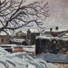 Arte: RAFAEL DURAN BENET (1931-2015) - NEU A GILS, PUIGCERDA - ÓLEO. Lote 171566952