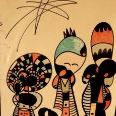 Arte: ABSTRACTO SOBRE CARTULINA ( SIN MARCO ) Nº 2. Lote 171567112