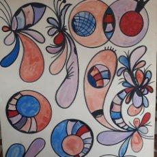 Arte: ABSTRACTO SOBRE CARTULINA ( SIN MARCO ) Nº3. Lote 171570054