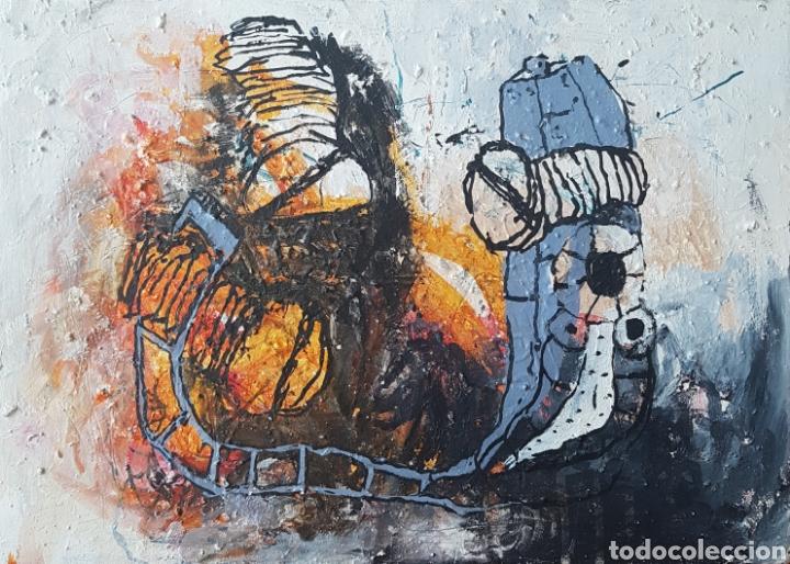 IGNASI DEULOFEU (IGNOT) - 2 OLEOS/TELA.ABSTRACTO.FIRMADOS. (Arte - Pintura - Pintura al Óleo Contemporánea )