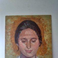 Arte: RETRATO DE BELLA JOVEN FIRMA BAU 1963. Lote 171607969