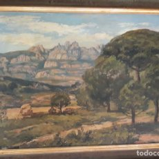 Arte: ODENA, ISIDRE ( PAISAJE MONTSERRAT VISTA DESDE VACARISSES ). Lote 171610750