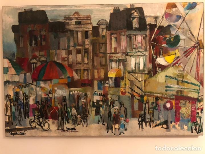 CUADRO ÓLEO AMSTERDAM RAMON AGUILAR MORE (Arte - Pintura - Pintura al Óleo Contemporánea )