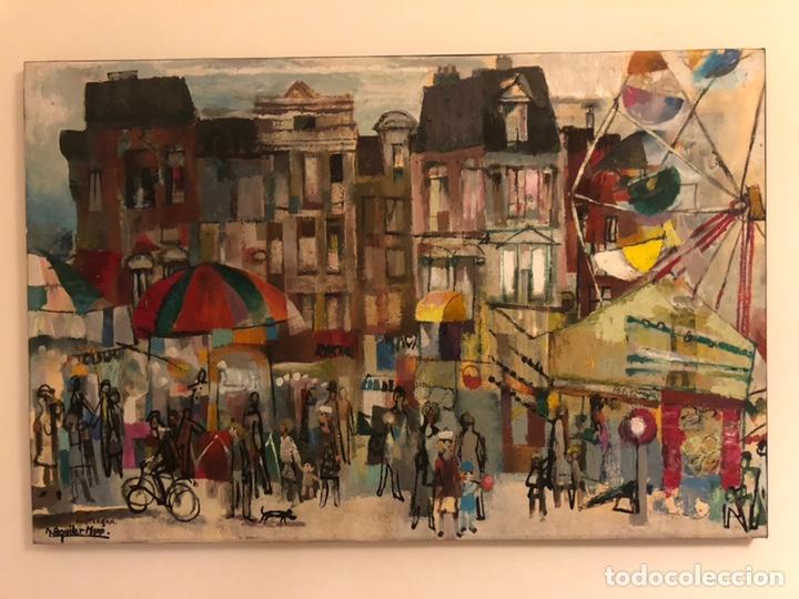 Arte: CUADRO ÓLEO AMSTERDAM RAMON AGUILAR MORE - Foto 2 - 171632097