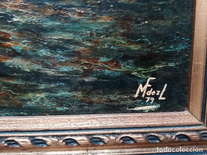 MARINA, FIRMADA POR M.FERNANDEZ EN 1937 (Arte - Pintura - Pintura al Óleo Contemporánea )