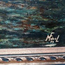 Arte: MARINA, FIRMADA POR M.FERNANDEZ EN 1937. Lote 171666660