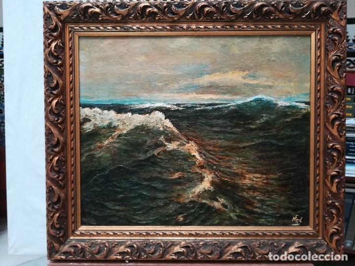 Arte: Marina, firmada por M.Fernandez en 1937 - Foto 6 - 171666660