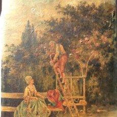 Arte: TABLILLA COSTUMBRISTA PRINC.S.XVIII. Lote 171669782