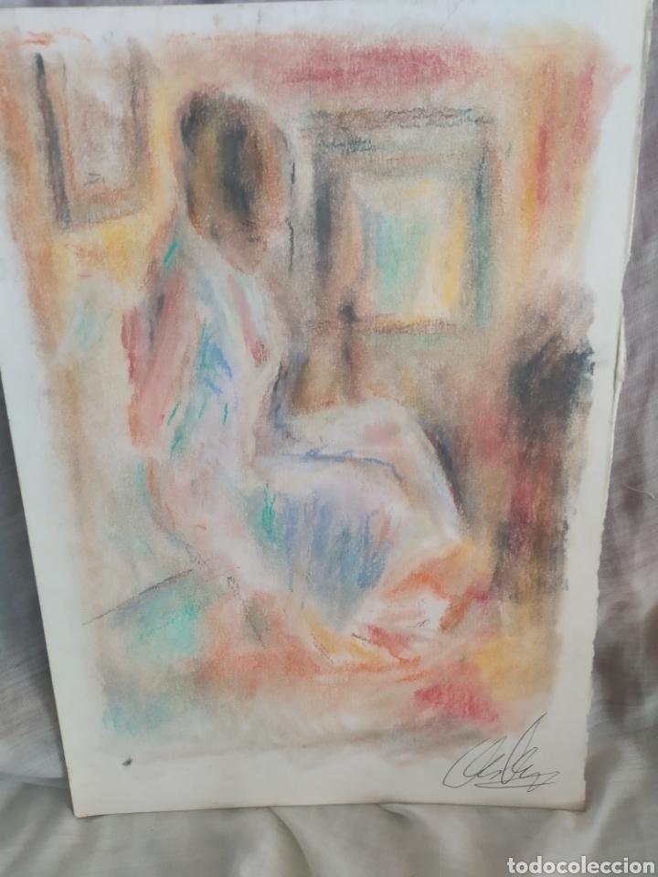 CHICA EN LA HABITACION ORIGINAL PASTEL (Arte - Pintura - Pintura al Óleo Contemporánea )