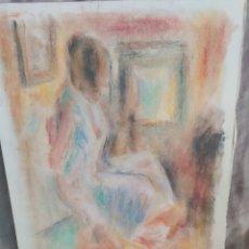Arte: CHICA EN LA HABITACION ORIGINAL PASTEL. Lote 171688088