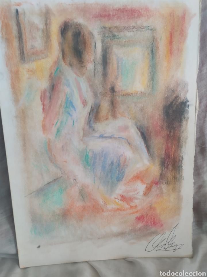 Arte: Chica en la habitacion original pastel - Foto 3 - 171688088