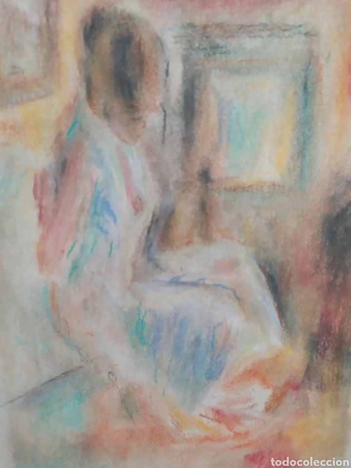 Arte: Chica en la habitacion original pastel - Foto 2 - 171688088