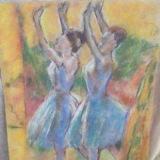 Arte: BAILARINAS ORIGINAL PASTEL. Lote 171691429