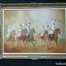 Arte: BEREBERES A CABALLO POR EL GENIAL PINTOR ONUBENSE COPERNICO. Lote 171836370