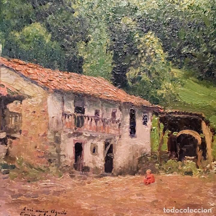 Arte: Paisaje asturiano por Emilio Gª Martínez (Madrid 1875-1950) fechado en 1916 - Foto 4 - 171963724