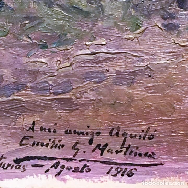 Arte: Paisaje asturiano por Emilio Gª Martínez (Madrid 1875-1950) fechado en 1916 - Foto 3 - 171963724