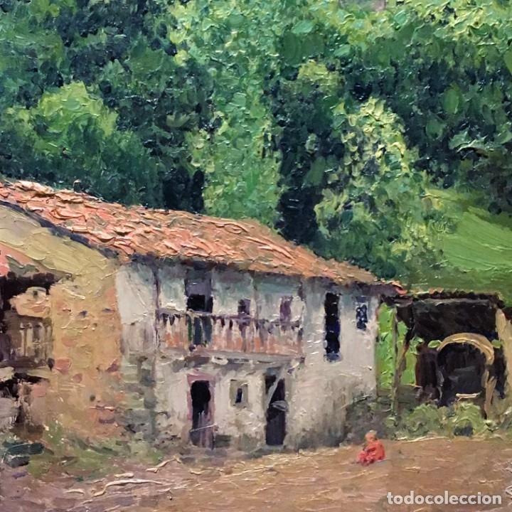 Arte: Paisaje asturiano por Emilio Gª Martínez (Madrid 1875-1950) fechado en 1916 - Foto 9 - 171963724