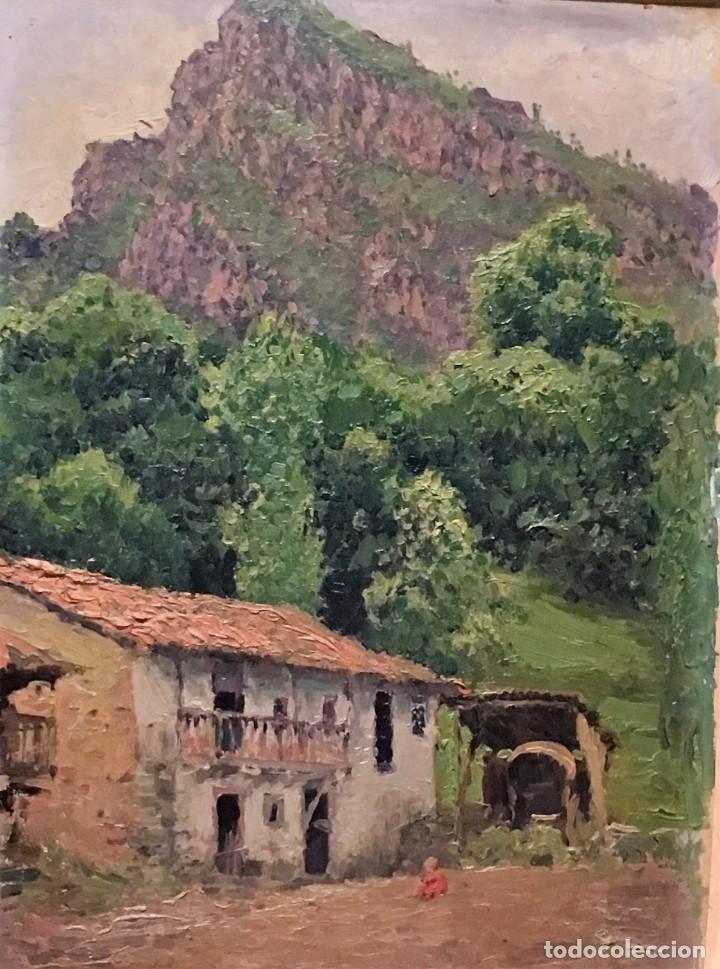 Arte: Paisaje asturiano por Emilio Gª Martínez (Madrid 1875-1950) fechado en 1916 - Foto 8 - 171963724