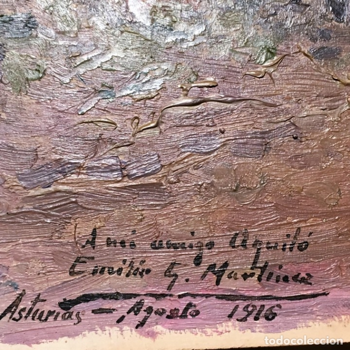 Arte: Paisaje asturiano por Emilio Gª Martínez (Madrid 1875-1950) fechado en 1916 - Foto 17 - 171963724
