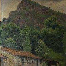 Arte: PAISAJE ASTURIANO POR EMILIO Gª MARTÍNEZ (MADRID 1875-1950) FECHADO EN 1916. Lote 171963724
