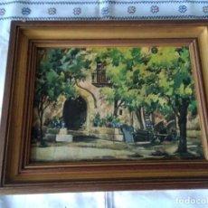 Arte: 82-ANTIGUO OLEO SOBRE TABLA, FIRMADO. Lote 171974084