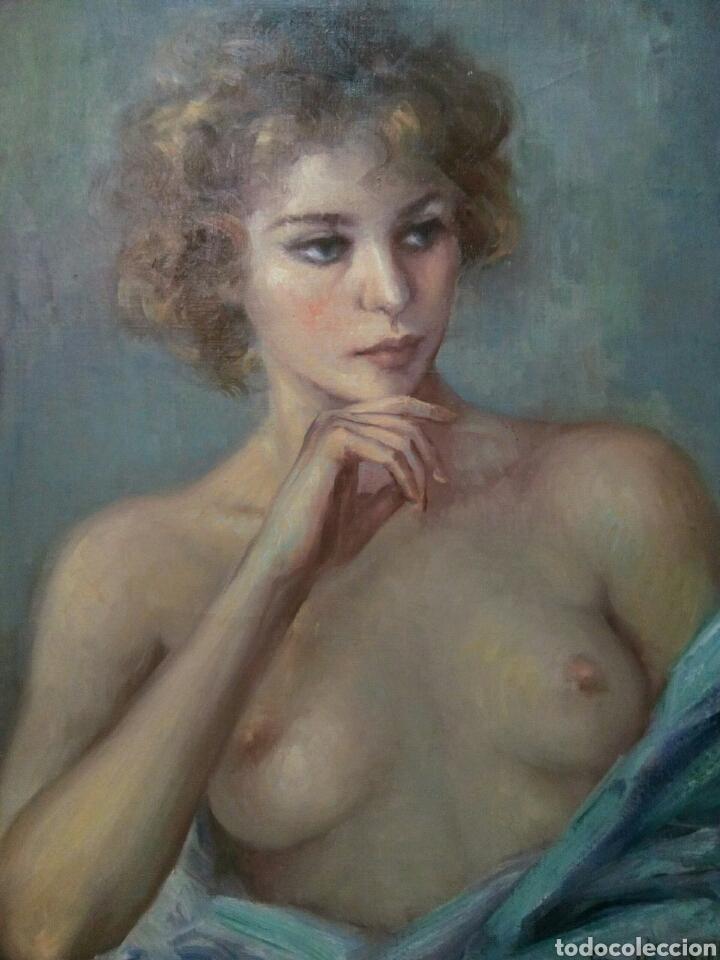 OLEO SOBRE LIENZO DESNUDO FEMENINO FIRMADO ROSER VINARDELL (Arte - Pintura - Pintura al Óleo Contemporánea )