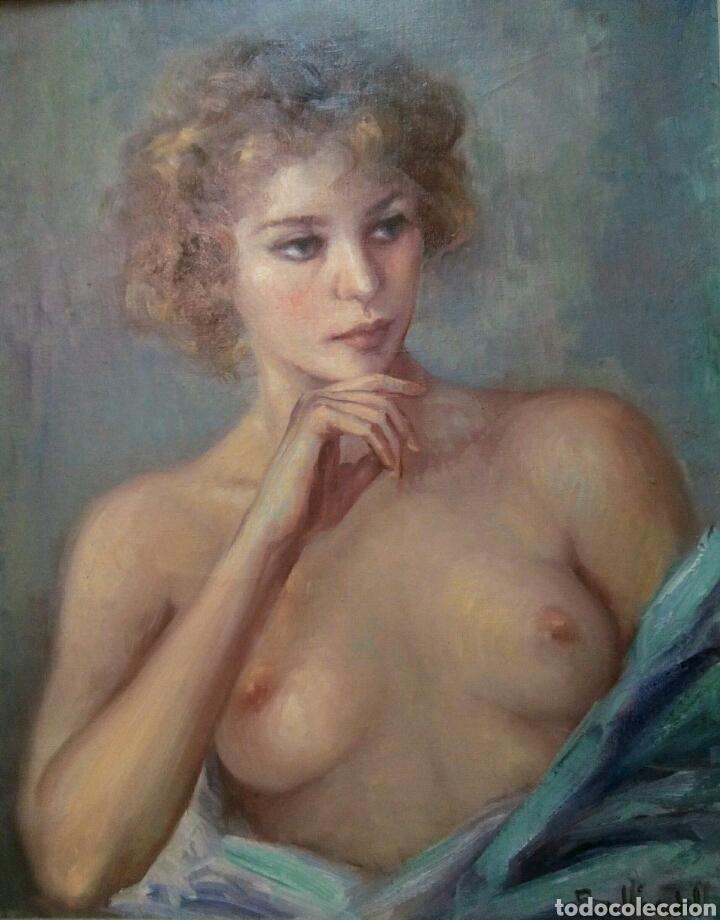 Arte: Oleo sobre lienzo desnudo femenino firmado Roser Vinardell - Foto 2 - 171991428